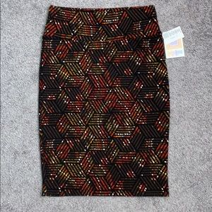 LuLaRoe multi-colored Cassie skirt size S NWT